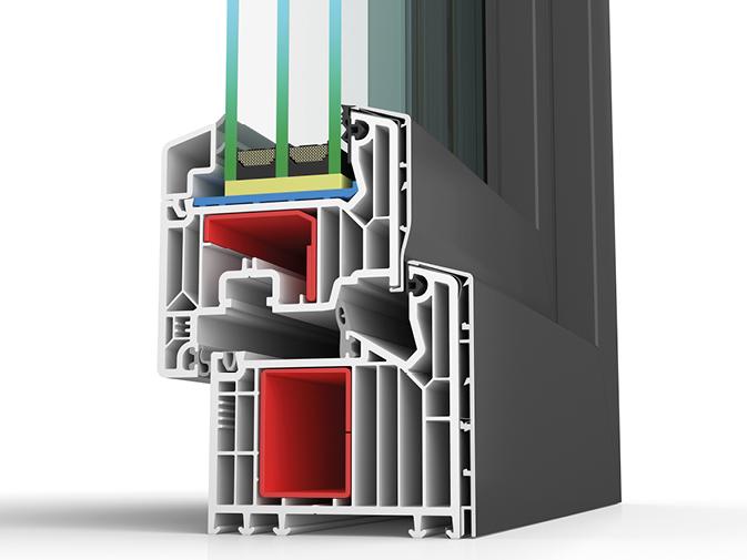 Kunststoff/ Aluminiumfenster Profil BW87 SAFE